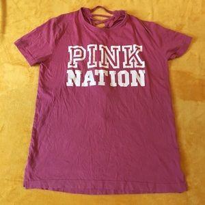 V.S. Pink lace back Shirt